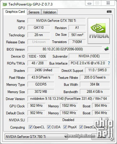 NVIDIA GeForce GTX 780 Ti GPU-Z Shot _1