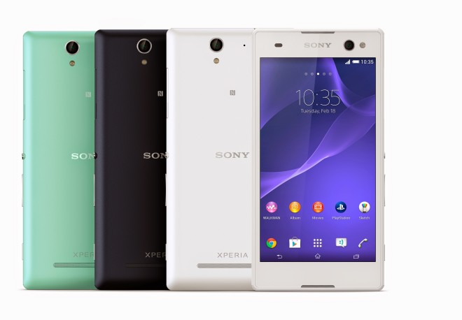 1_Xperia_C3_Group_Colours_Front