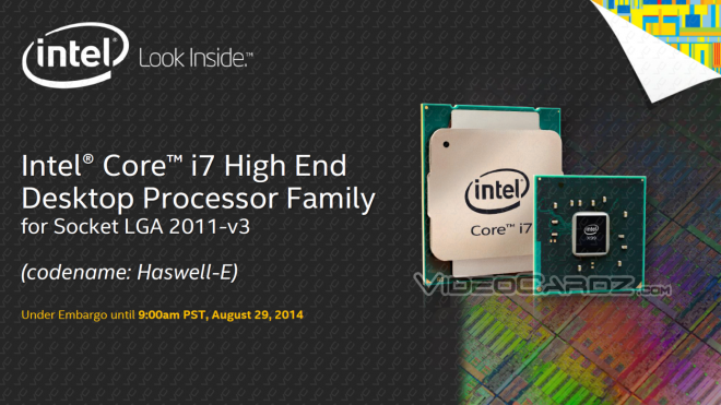 Intel Haswell-E Slide Deck